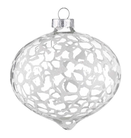STIPPLE EFFECT GLASS ONION BAUBLES Clear