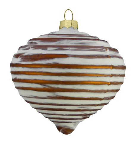 COPPER RIBBED GLASS ONION Copper