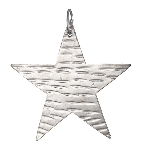 hammered metal stars - SILVER Silver