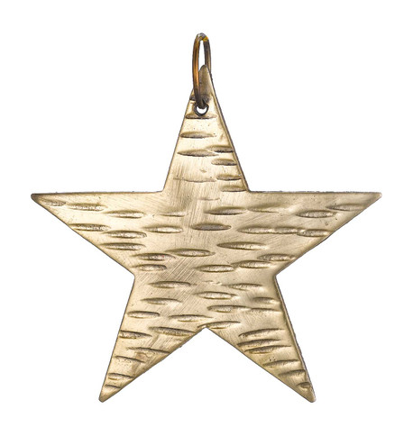 Hammered metal stars - GOLD Gold