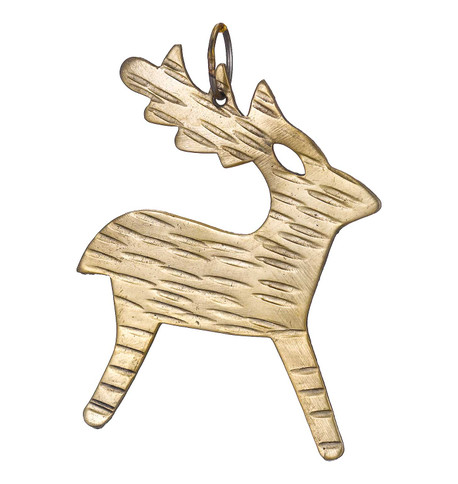 Hammered METAL REINDEER - GOLD Gold