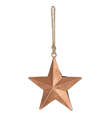 METAL STARS ON ROPE - COPPER Copper