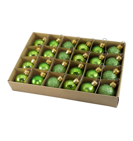 30mm BOXED BAUBLES - APPLE Apple