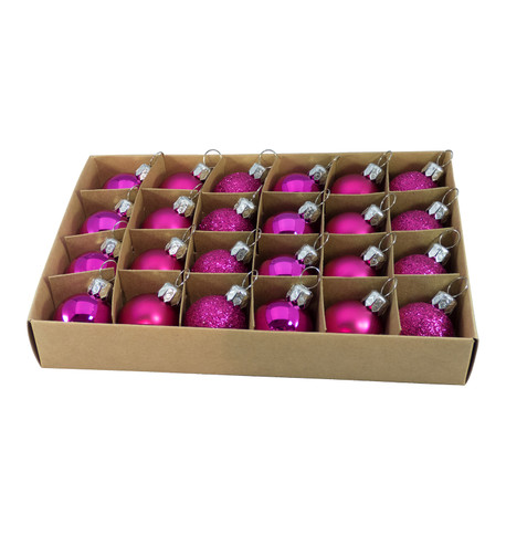 30mm BOXED BAUBLES - PINK Pink