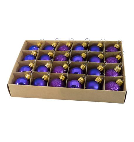 30mm BOXED BAUBLES - PURPLE Purple