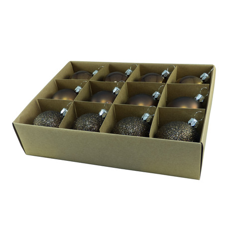 48mm BOXED BAUBLES - BROWN Brown