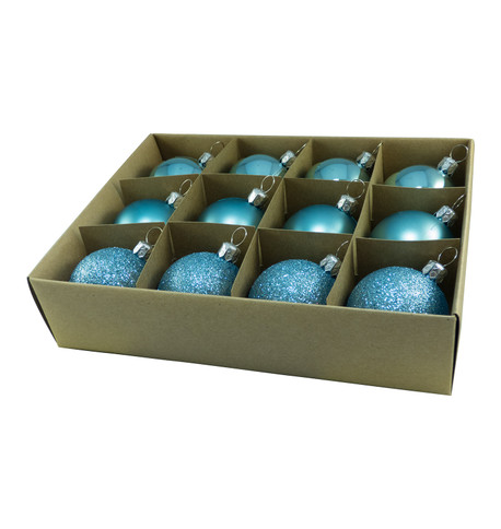 48mm BOXED BAUBLES - DUCK EGG Duck Egg