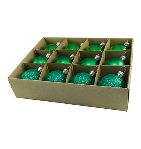 48mm BOXED BAUBLES - GREEN Green