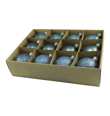 48mm BOXED BAUBLES - GRAPHITE Graphite