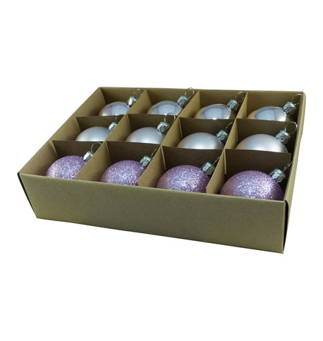 48mm BOXED BAUBLES - LILAC Lilac