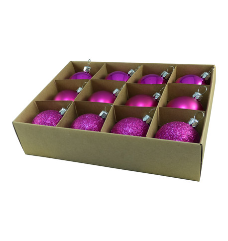 48mm BOXED BAUBLES - PINK Pink