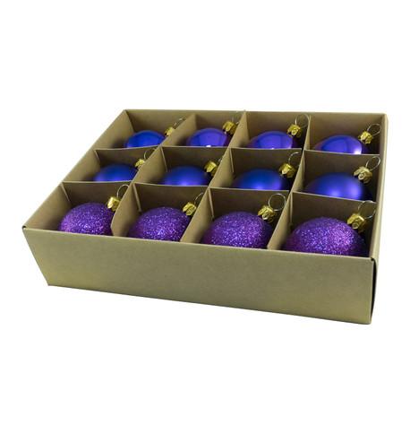 48mm BOXED BAUBLES - PURPLE Purple