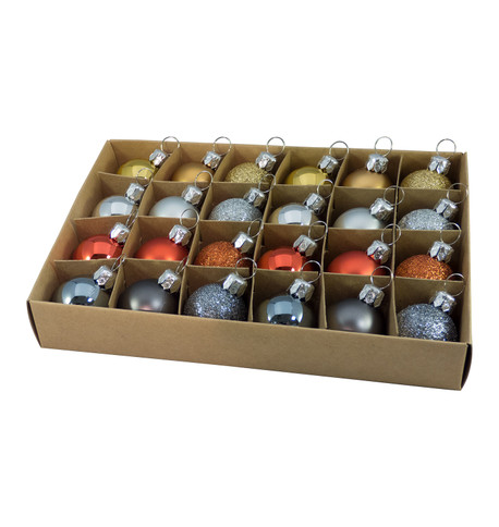 30mm BOXED BAUBLES - MIX C Mixed