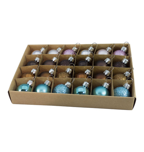 30mm BOXED BAUBLES - MIX D Mixed