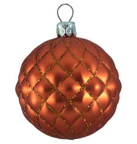QUILTED BAUBLES -  MATT ORANGE Orange