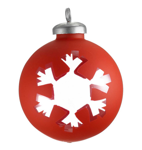 CUT OUT RED  WRAP BAUBLE - SNOWFLAKE Red