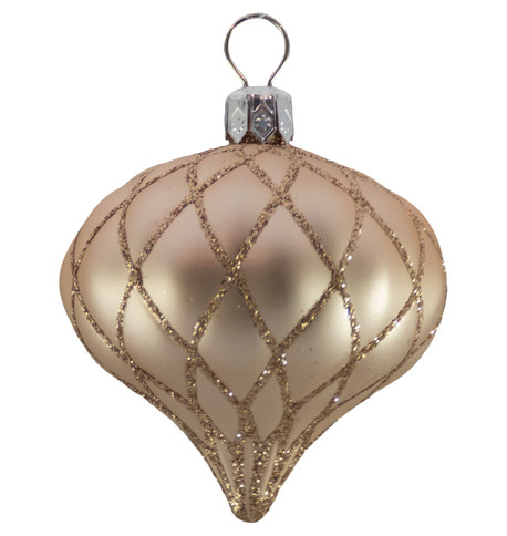 QUILTED ONION BAUBLES - ROSE GOLD MATT Rose Gold