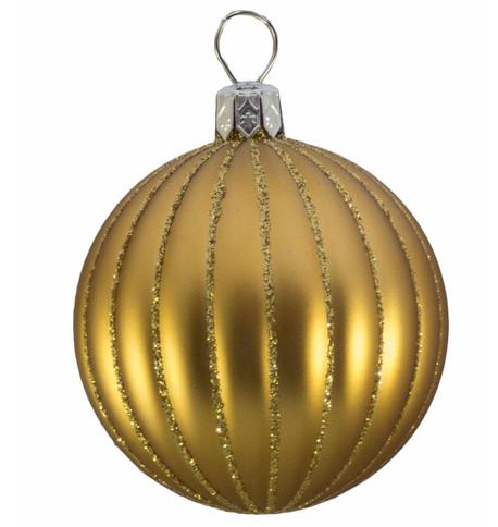 RIBBED BAUBLES - MATT GOLD Gold
