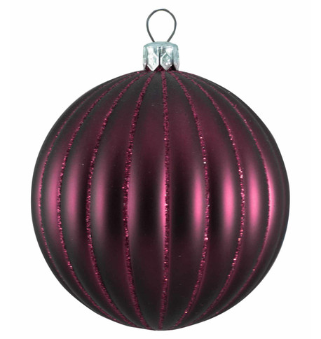 RIBBED BAUBLES - MULBERRY MATT Mulberry