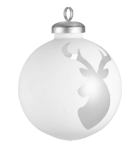 CUT OUT WHITE WRAP BAUBLES - DEER White