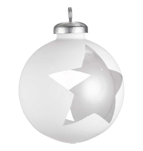 CUT OUT WHITE WRAP BAUBLES - STAR White