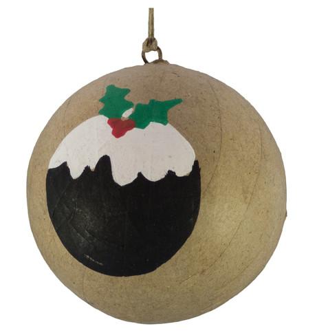 KRAFT BAUBLES - CHRISTMAS PUDDING Natural