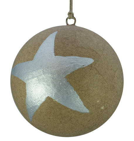 KRAFT BAUBLES - LARGE SILVER STAR Silver