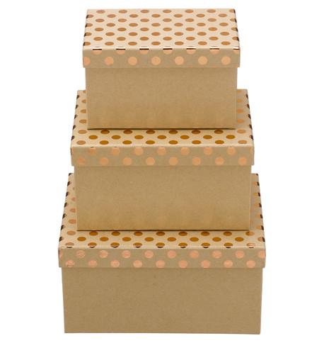 RECTANGULAR KRAFT BOXES - COPPER SPOTS Copper