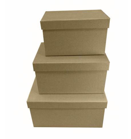 RECTANGULAR KRAFT BOXES Natural