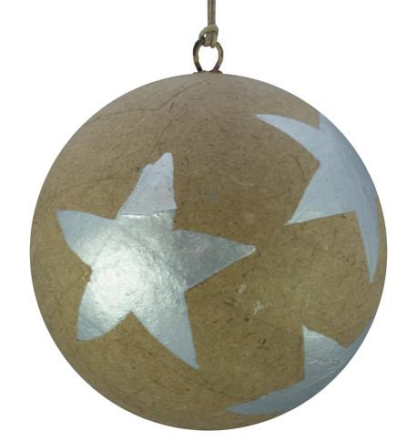 KRAFT BAUBLES - SILVER STARS Silver