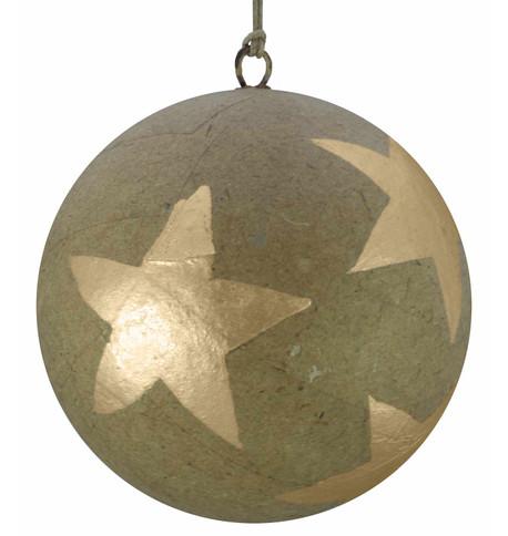 KRAFT BAUBLES - GOLD STARS Gold