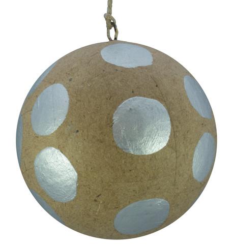 KRAFT BAUBLES - SILVER dots Silver