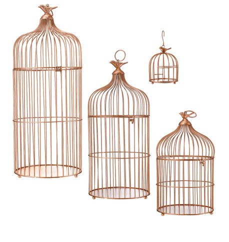 METAL BIRD CAGES - COPPER Copper