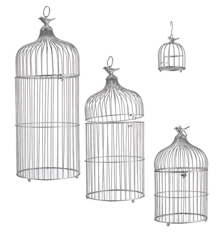 METAL BIRD CAGES - SILVER Silver