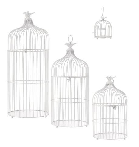 METAL BIRD CAGES - WHITE White