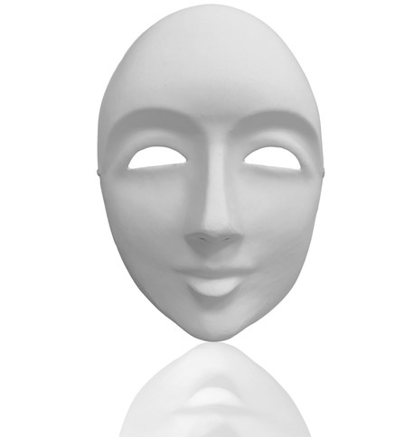 Blank Face Mask White