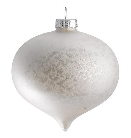 STIPPLED MATT GLASS ONION Silver