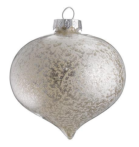 STIPPLED SILVER GLASS ONION Silver