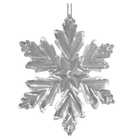 Crystal Clear snowflake Clear