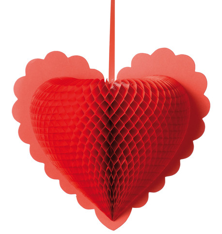 Paper fold out hearts - Red Red