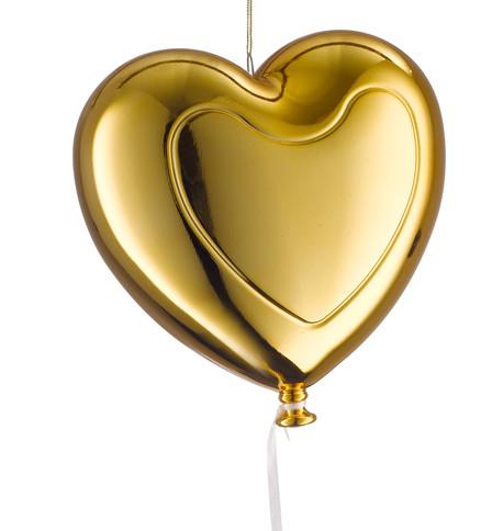 Metallic heart balloons - gold Gold