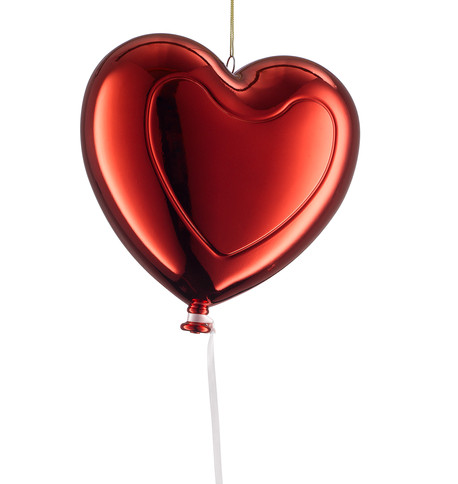Metallic heart balloons - Red Red