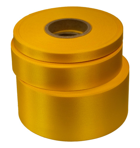 Yellow Satin Acetate Ribbon Yellow
