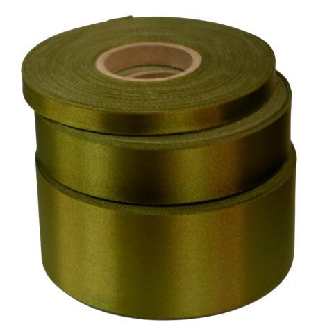 Khaki Satin Acetate Ribbon Khaki