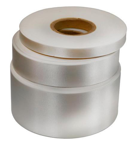 White Satin Acetate Ribbon White