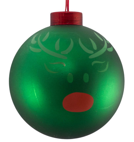 CONTEMPORARY ICON BAUBLES - GREEN REINDEER Green