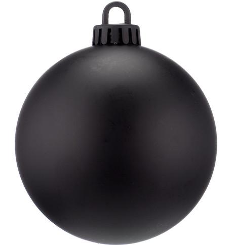 250mm MATT BAUBLES - BLACK Black