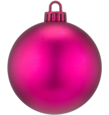 250mm MATT BAUBLES - PINK Pink