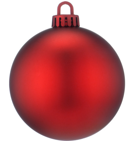 250mm MATT BAUBLES - RED Red