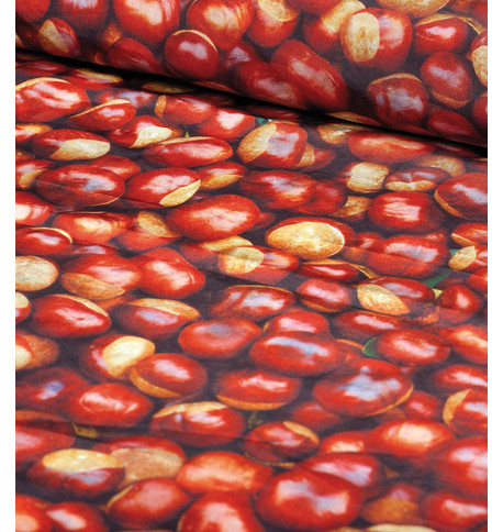 CASTANEA PHOTOPRINT FABRIC Brown